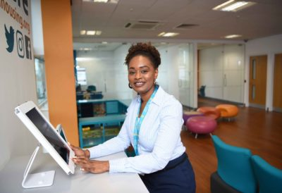 Fatamta gained a job as a Receptionist after receiving support from Steps To Success.